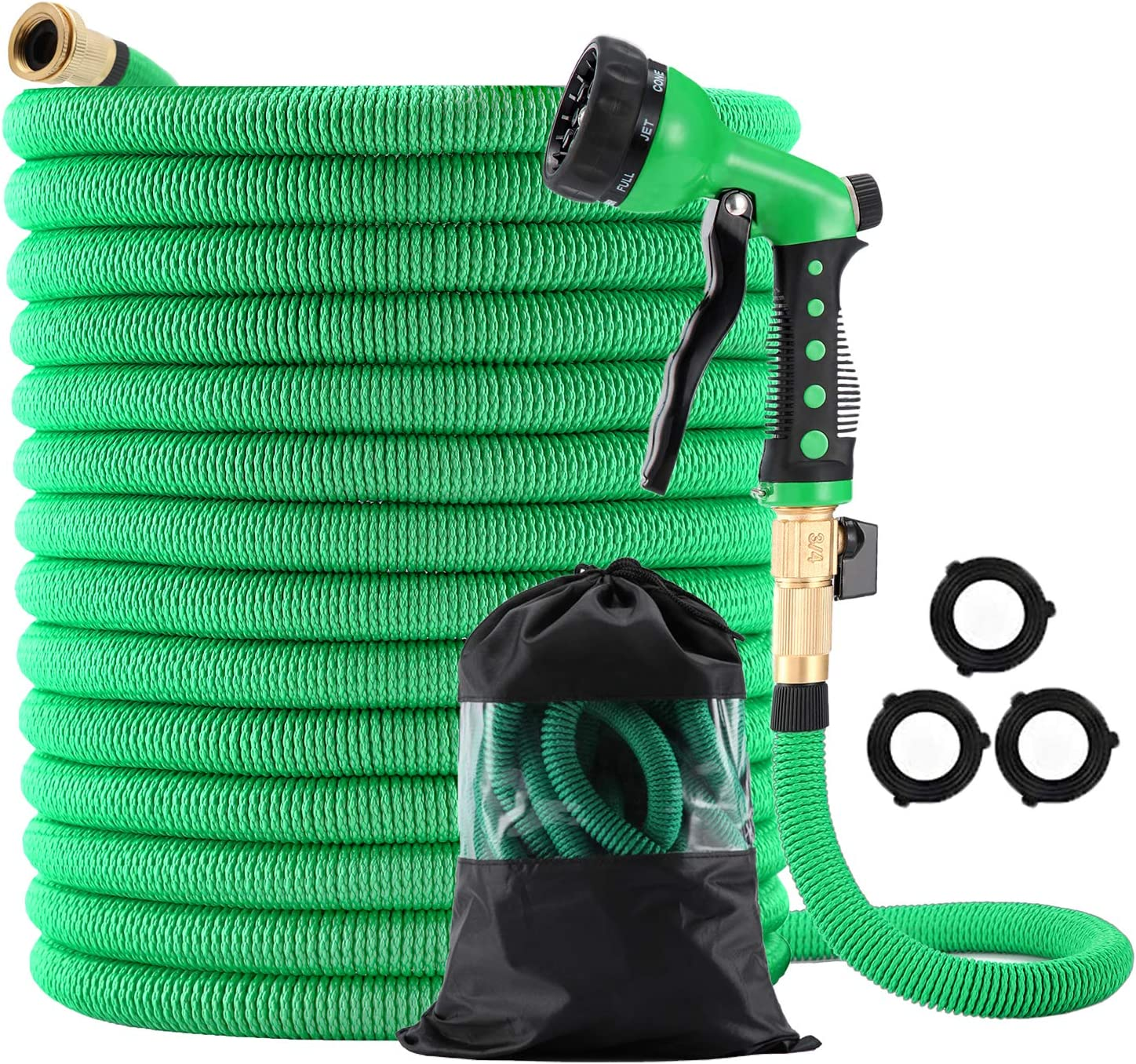 low-pricing Expandable Garden Hose Max 66% OFF 75 ft with 8 4in 3 Function So and Nozzle