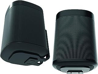 ONE, ONE SL & Play: 1 väggfäste, tvillingpack, svart, kompatibel med Sonos ONE & PLAY1-högtalare