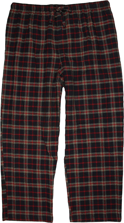 Roundtree & Yorke Men's Big and Tall Flannel Sleep Bottoms Pajama Pants