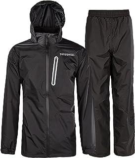 SWISSWELL Rain Suit for Men Waterproof Hooded Rainwear (Jacket & Trouser Suit)