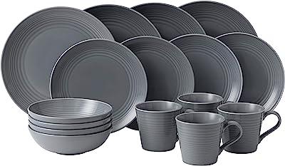 Royal Doulton Gordon Ramsay Maze 16-Piece Dinner Set, Grey