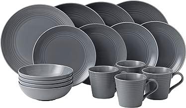 Royal Doulton 40003015 Gordon Ramsay Maze 16-Piece Dinner Set, Grey