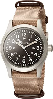 Hamilton H69429901 Khaki Field Mechanical Men's Watch Beige NATO Strap