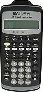 Texas Instruments BAIIPlus Financial Calculator CALCULATOR,BUS ANLY,10DIG UD1013 (Pack of 2)