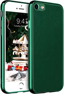DOMAVER iPhone 8 Case, iPhone 7 Case, TPU Soft Bumper Shock Absorption Durable Smooth Cover Slim Sleek Protective Shockproof Protective Phone Case for iPhone 8/7 (4.7 Inch), Green