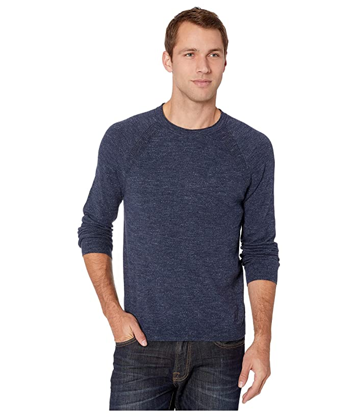 Lucky Brand  Welter Weight Crew (Heather Navy) Mens Clothing