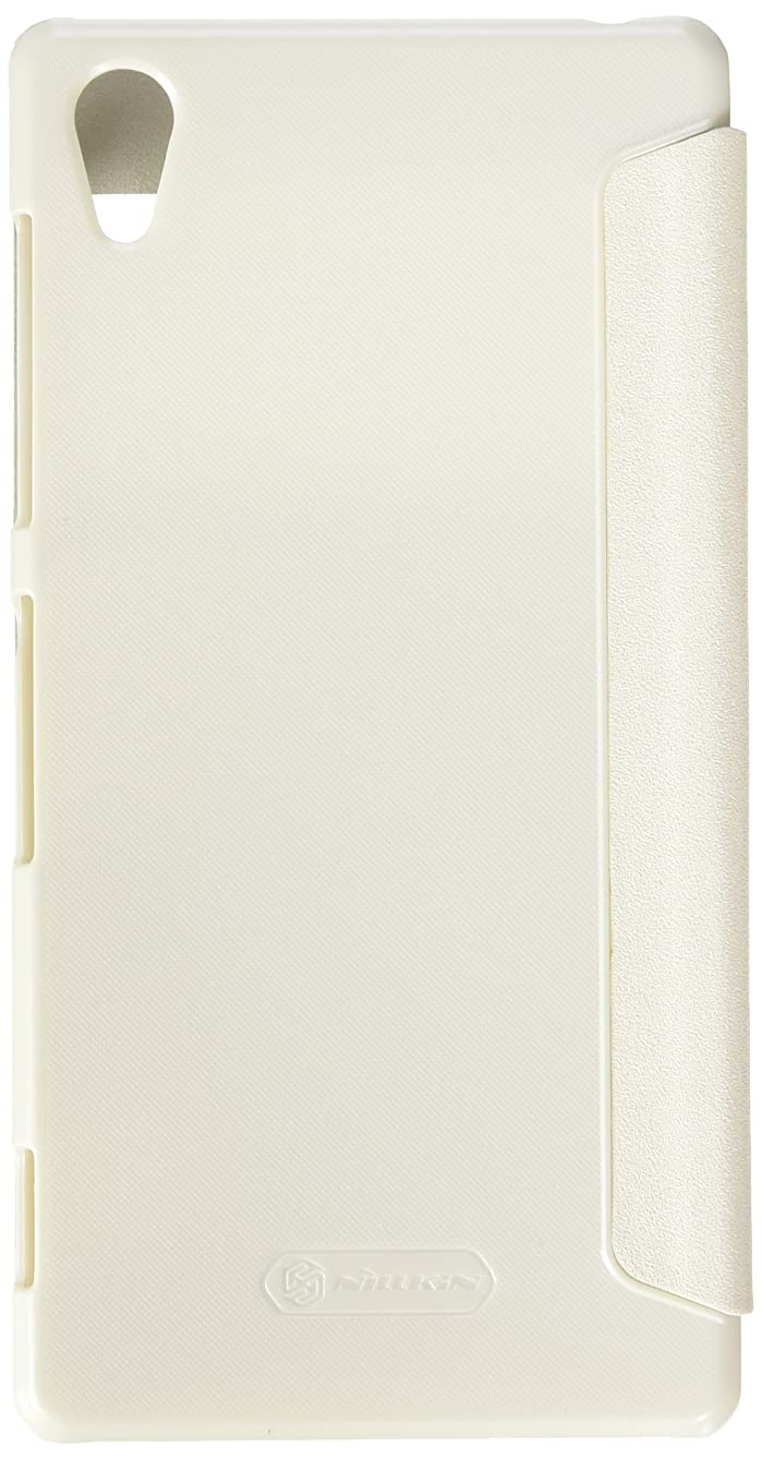 Nilkin Sparkle PU Flip Window Wake Up Cover Case for Sony Xperia Z2 - Retail Packaging - White
