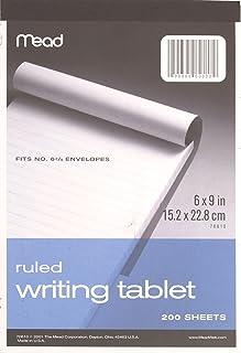 تابلت كتابة بخطوط عريضة متوسطة الطول، 6 × 9 بوصة، 200 ورقة (70610)