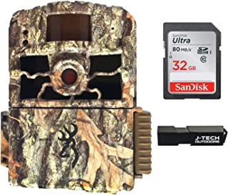 Browning Dark Ops HD MAX Trail Game Camera Bundle Includes 32GB Memory Card and J-TECH Card Reader (18MP) | BTC6HDMAX