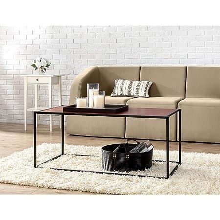 Amazon Com Zinus Troy Modern Studio Collection Classic Rectangular Coffee Table Brown Furniture Decor
