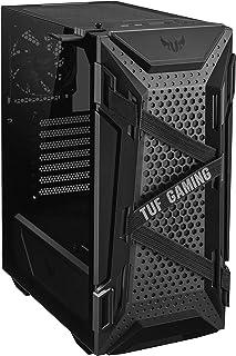 صندوق كمبيوتر للالعاب تي يو اف من اسوسGT301، هيكل ايه تي اكس ميد تاور بحجم صغير مع الواح جانبية من الزجاج المقسى، مروحة با...