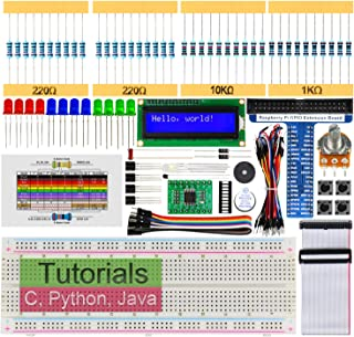 Freenove Raspberry Pi 4 B 3 B+ 400用LCD1602スターターキット、209ページの詳細なチュートリアル、Python C Javaコード、151アイテム、28プロジェクト、無はんだブレッドボード