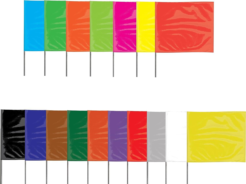 rouge Steel Wire 12 drapeaux//pack x 3-1//2 in Presco Steel Wire Staff Drapeaux de marquage: 2-1//2 in Flag // 15 in