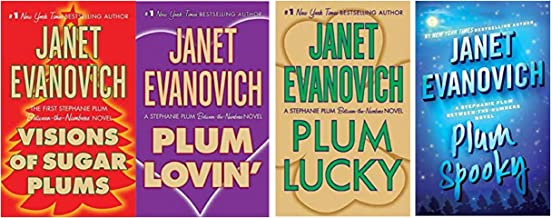 Janet Evanovich A Between The Numbers Novel (4 Book Series) Visions of Sugar Plums - Plum Lovin' - Plum Lucky - Plum Spooky