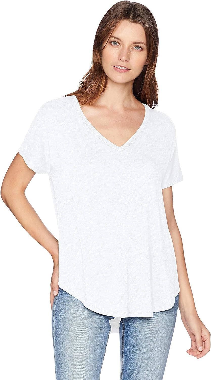 Daily Ritual Women's Jersey Short-Sleeve V-Neck Longline T-Shirt