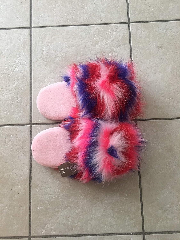 Secret Treasure Wome's Pink Fuzzy Slippers