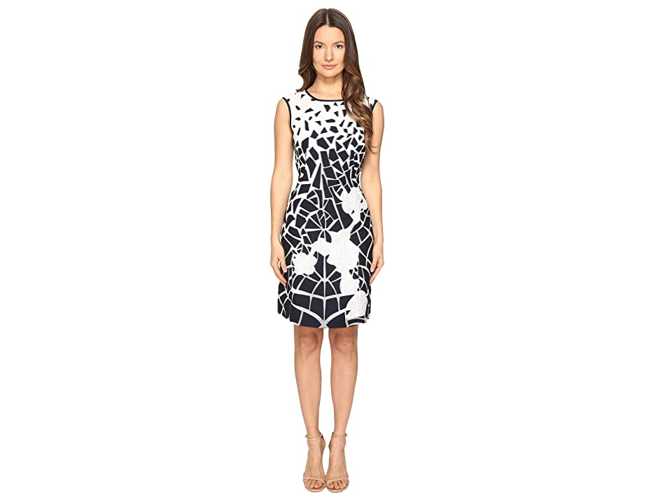 Image of Alberta Ferretti Sleeveless Dress (Blue/White) Women's Dress