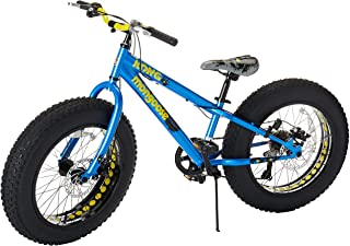 Mongoose Fat Tire Bikes for Kids and Children, with Hi-Ten Steel Frame or Aluminum Frame and 20-Inch or 24-Inch Wheels, Great for Beginner Level Riders (Renewed)