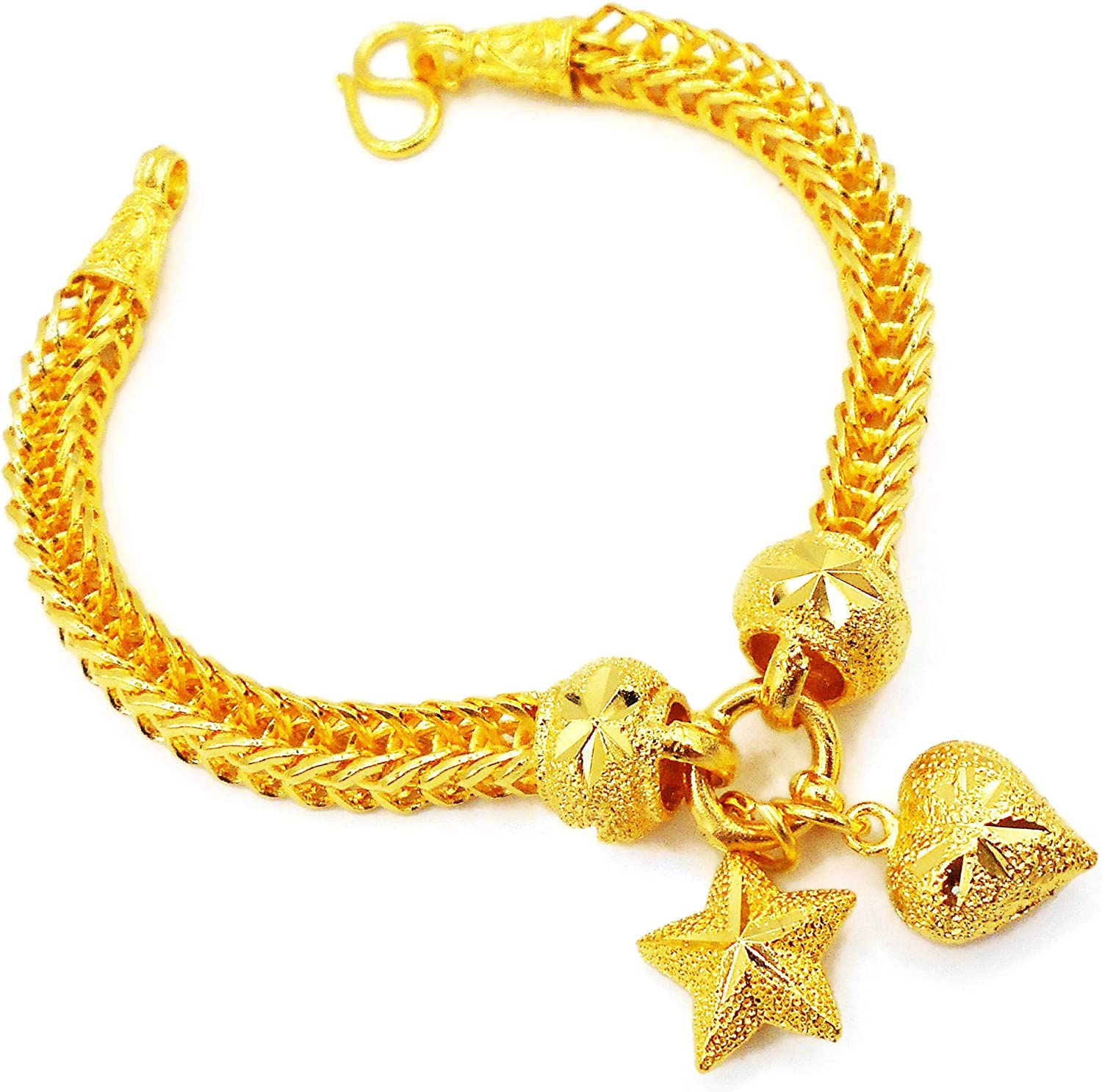 Heart Star 22K 23K 24K THAI YELLOW Plated BAHT Jewelry Max 41% Max 63% OFF OFF Br GOLD
