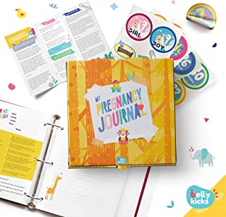 My Pregnancy Journal, Baby Memory Book for Girls & Boys, Pregnancy Books for First Time Moms, Baby Scrapbook Album Included in a Keepsake Box, Weekly Baby Tracker Journal with 40 Stickers