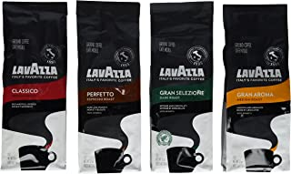 Lavazza Classico, Gran Aroma, Gran Selezione & Perfetto Ground Coffee (Pack of 4)