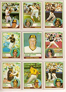 San Diego Padres 1983 Topps Baseball Master Team Set w/ Year End Traded Cards (31 Cards) (Nr-Mt to Mt)**Tony Gwynn Rookie Card**Kurt Bevacqua, Juan Bonilla, Luis DeLeon, Dave Dravecky, Dave Edwards, Tim Flannery, Steve Garvey, Ruppert Jones, Terry Kennedy, Joe Lefebvre, Sixto Lezcano, Tim Lollar, Gary Lucas, John Montefusco, Broderick Perkins, Gene Richards, Luis Salazar, Eric Show, Steve Swisher, Garry Templeton, Chris Welsh, Eddie Whitson, Alan Wiggins, Dick Williams and More**
