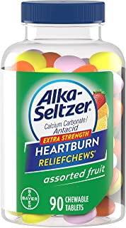 Alka-Seltzer Extra Strength Heartburn ReliefChews - relief of heartburn, acid indigestion and sour stomach - assorted lemon, orange strawberry flavors - 90 Count