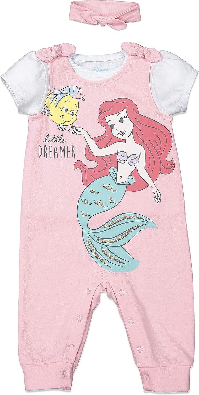 Max 60% OFF Disney Princess Surprise price Ariel Belle Cinderalla Romper Headband Set