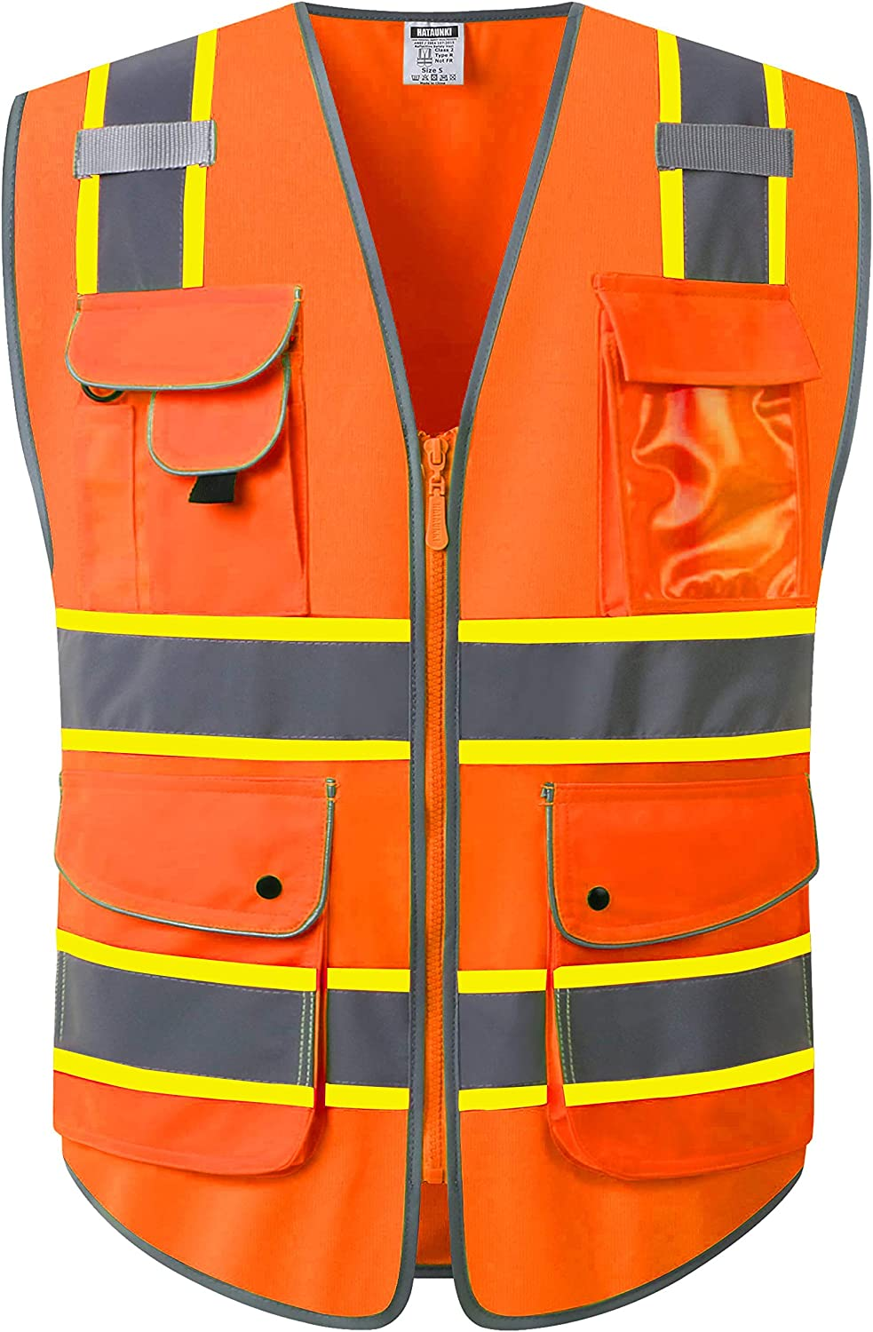 HATAUNKI Class 2 Retro-Reflection Vests Multi-Function Purchase Mesa Mall Safety 9