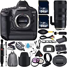 Canon 6Ave EOS-1D X DSLR Camera International Version (No Warranty) + Tamron SP 70-200mm f/2.8 Di VC USD G2 Lens EF + Battery Grip + Replacement Lithium Ion Battery Bundle