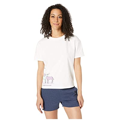 Life is Good Snuggle Up Relaxed Sleep Tee (Cloud White) Women
