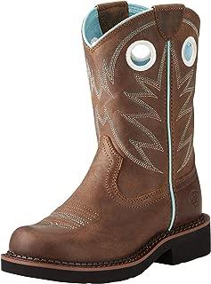 Kids' Probaby Western Boot, Distressed Brown