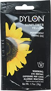 Dylon 87005 Permanent Fabric Dye, 1.75-Ounce, Sunflower Yellow