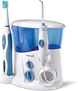 Waterpik WP-900 全套护理冲牙器和声波牙刷,白色 需配变压器