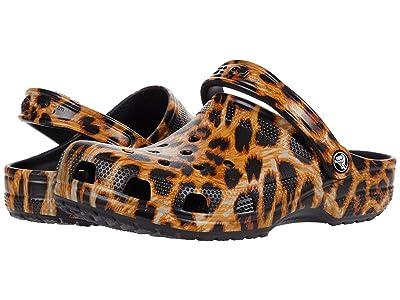 Crocs Classic Animal Print Clog (Leopard) Shoes