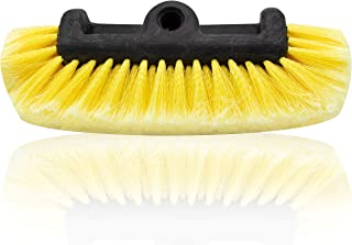 Glearo Car Wash Brush Head for Detailing Washing Vehicles, Boats, RVs, ATVs, or Off-Road Autos, Super Soft Bristles for Scratch Resistant Cleaning, Universal Handle Attachment (1)