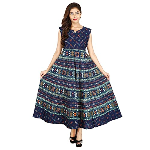 RAJASTHANI COLLECTIONS Women's Cotton Dress(Multicolor_Xl)
