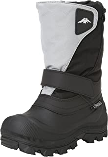 Tundra Boys Quebec Child Winter Boots, Black/Grey, 12 M US Little Kid