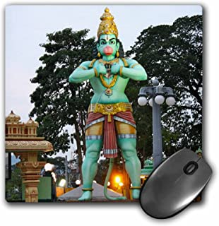 3drose llc 8 x 8 x 0.25 英寸鼠标垫,蝙蝠洞上的猴神雕像,Malaysia 照片 rhonda albom 出品 (mp_164775_1)