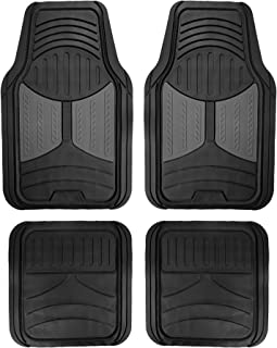 FH Group F11313GRAY Gray Rubber Floor Full Set Trim to Fit Mats