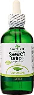 Sweet Drops SweetLeaf Liquid Stevia Sweetener, SteviaClear, 4 Ounce