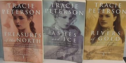 Author Tracie Peterson Three Book Bundle of the YUKPN QUEST Series , Includes: Treasures of the North - Ashes and Ie - Rivers of Gold