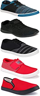 WORLD WEAR FOOTWEAR Sports Running Shoes/Casual/Sneakers/Loafers Shoes for MenMulticolors (Combo-(5)-1219-1221-1140-725-1014)