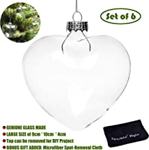 Best clear glass fillable baubles Reviews