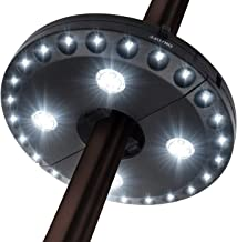 Patio Umbrella Light 3 Lighting Modes Cordless 28 LED Lights at 200 lux- 4 x AA Battery Operated, Umbrella Pole Light for Patio Umbrellas, Camping Tents or Outdoor Use