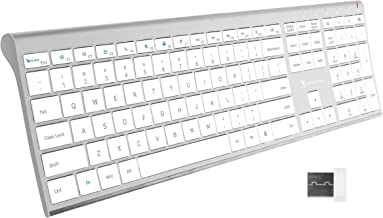 X9 Performance Slim Wireless Keyboard for Laptop   Rechargeable - Elegance for Windows PC - Low Profile Keyboard with 110 ...