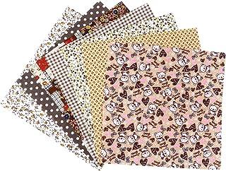 ab288a9cc4 ROSENICE Tessuto di stampato Tessuti di cotone con stampa floreale per  artigianato fai da te cucito