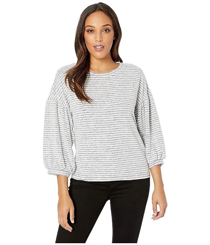 Lucky Brand  Stripe Top (Grey/White Stripe) Womens Clothing