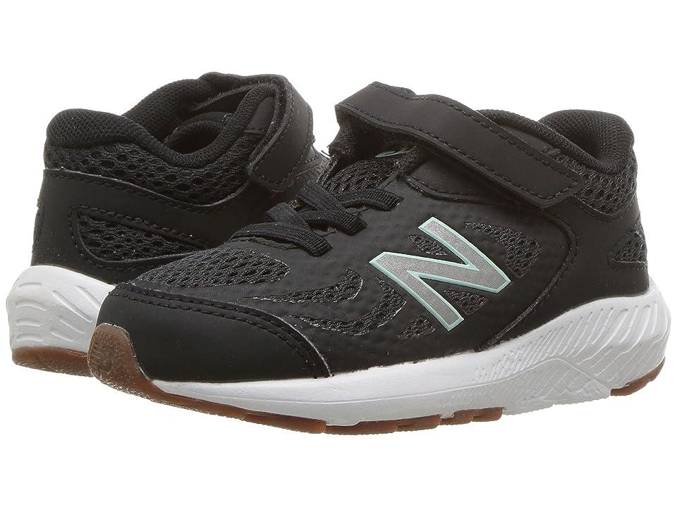New Balance Kids KV519v1I (Infant/Toddler) (Black/Seafoam) Girls Shoes