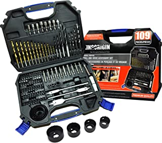 109 piece drill and drive accessory set,drill bits,drill bit set,drill set,drilling driving kit